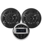 Kit impianto stereo marino bluetooth con 2 casse