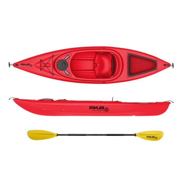 Kayak canoa pimar 10004 red  da 305 cm + 1 gavone + 1 pagaia + 1 seggiolino sport
