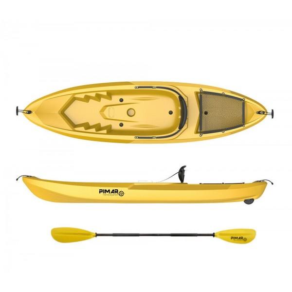 Kayak canoa pimar 10010 yellow da 266 cm + 1 gavone + 1 pagaia + 1 seggiolino sport