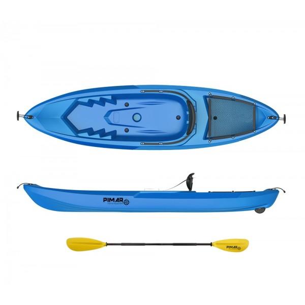 Kayak canoa pimar 10010 blue da 266 cm + 1 gavone + 1 pagaia + 1 seggiolino sport
