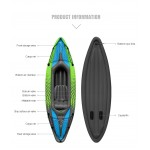 Kayak gonfiabile monoposto 275x76x35 cm