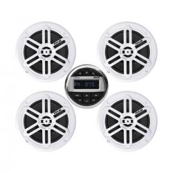Kit impianto stereo marino bluetooth con 4 casse + telecomando + USB