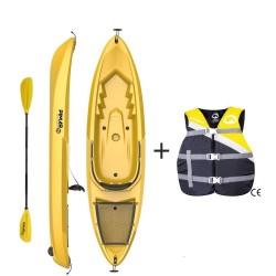 Kayak canoa pimar da 266 cm + 1 gavone+ 1 pagaia + 1 seggiolino sport + giubbotto di salvataggio