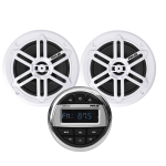 Kit impianto stereo marino bluetooth con 2 casse + telecomando + USB