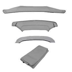 Telo di ricambio per tendalino 4 archi varie misure GRIGIO