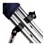 Tendalino 4 archi in alluminio 240x170x140 ø 25mm grigio