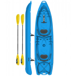 Kayak 2 posti - canoa da 340 cm + 2 pagaie + 2 seggiolini sport biposto