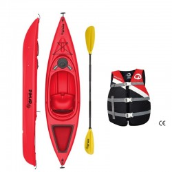 Kayak canoa pimar da 305 cm + 1 gavone + 1pagaia + 1 seggiolino sport + giubbotto di salvataggio