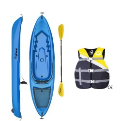 Kayak canoa pimar 1010 blue da 266 cm + 1 gavone + 1 pagaia + 1 seggiolino sport