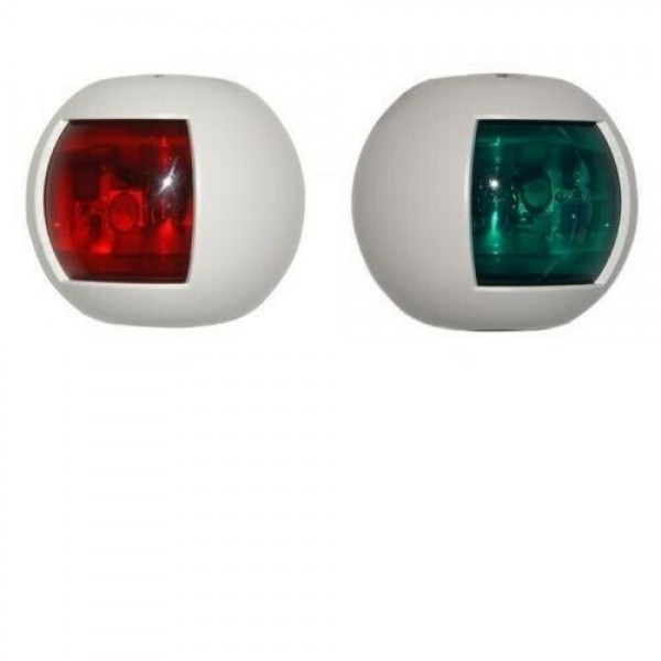 Coppia di fanali di via luce verde e rossa