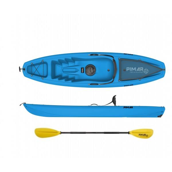 Kayak canoa pimar 10003 blu da 266 cm+ 1 gavone+ 1 pagaia + 1 seggiolino + 1 ruotino