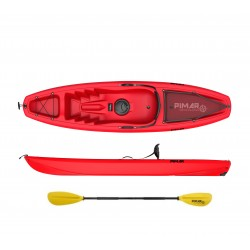Kayak canoa pimar 10003 red da 266 cm + 1gavone + 1 pagaia + 1 seggiolino + 1 ruotino