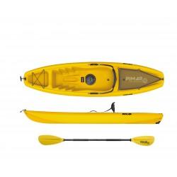 Kayak canoa pimar 10003  yellow da 266 cm + 1 gavone + 1 pagaia + 1 seggiolino + 1 ruotino