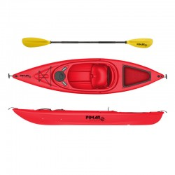 Kayak canoa pimar 1004 red  da 305 cm + 1 gavone + 1 pagaia + 1 seggiolino sport