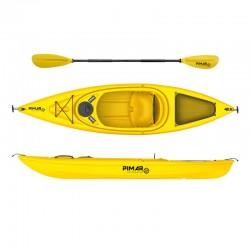 Kayak canoa pimar 1004 yellow  da 305 cm + 1 gavone + 1 pagaia + 1 seggiolino sport