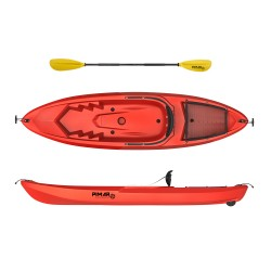 Kayak canoa pimar 1010 red da 266 cm + 1 gavone + 1 pagaia + 1 seggiolino sport