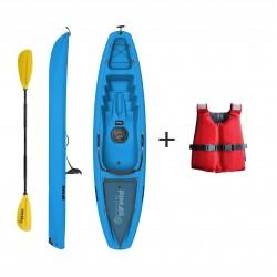 Kayak canoa pimar 10003   blu da 266 cm + 1 gavone+ 1 pagaia + 1 seggiolino sport + giubbotto di salvataggio