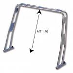 Roll bar in acciaio inox 316 abbattibile modello diritto h. 1.40 mt