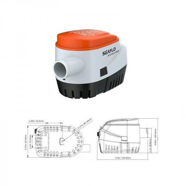 Pompa di sentina automatica 1100 gph