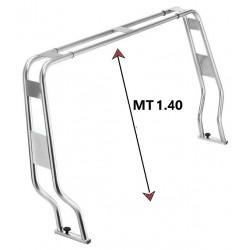 Roll bar abbattibile in acciaio inox 316 ø 40 mm. per gommone h.1.40