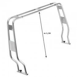 Roll bar abbattibile in acciaio inox 316 ø 40 mm. per gommone h.1.30