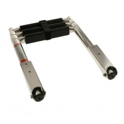 Scaletta telescopica ribaltabile  inox 316 3 gradini